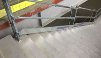 Temporary Stair Security Railings